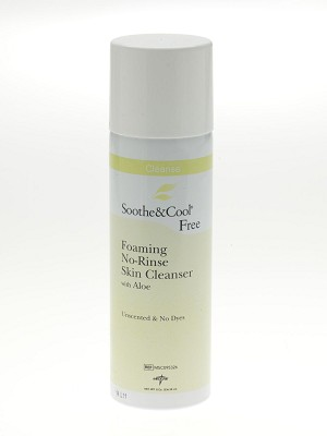Soothe & Cool Foaming No-Rinse Skin Cleanser - Wash, Perineal, No Rinse, Unscent, 8Oz, Box of 24