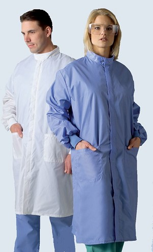 Medline Unisex ASEP A/S Barrier Lab Coat - Cb, A/Sbarrier, Lrg, Large, Each - Model 6621BLCL
