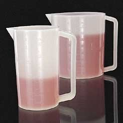 Thermo Scientific Nalgene Graduated Beakers with Handle, High-Density Polyethylene, Model 1220-2500