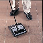 Rubbermaid Compact Dual-Action Sweeper - Dual-Action Sweeper 41 long handle - Model 4215-88 BLA