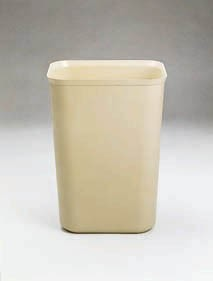 Rubbermaid Fire-Resistant Wastebaskets, Model RCP 2541 BEI, 14 QT