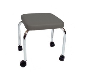 Treatment (Physical Therapy) Stool, Square Top, Gray            Only