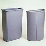 Rubbermaid Untouchable Containers, Model 3520-00-GRAY, Each