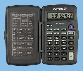 VWR Pocket Metric Calculator, Model 15551-122, Each