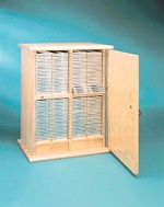 Eberbach Wooden Micro Slide Storage Cabinet, with Swinging Door, Model 2830, Each