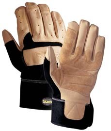 Wells Lamont SUG Pigskin Leather Safety Cuff Gloves with Spandex Back, Medium, Model 854KM, Each