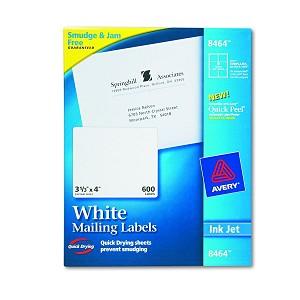 avery dennison easy peel white address label ij 3 1 3x4 6 sh we