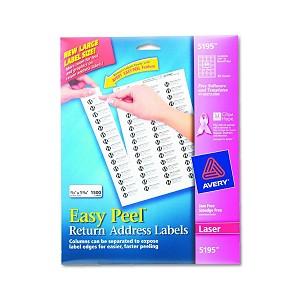 avery dennison easy peel white address label rtn add 30up lsr we