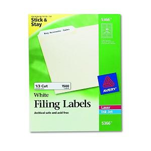 avery dennison file folder label lsr ffldr 15c we box of 50 model 5366