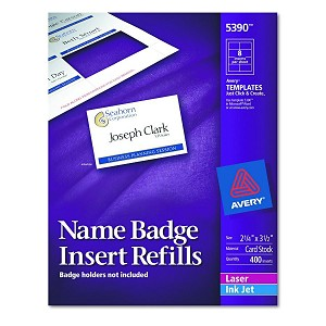 avery dennison name badge insert refill f 5883 nametag 400 box