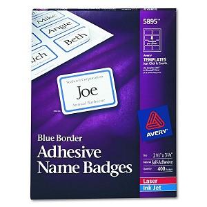 avery dennison name badge label slfadhsv lsr nme box of 50