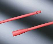 Bard Intermittent Catheter Round Tip Red Rubber 18 Fr., Each - Model 94180