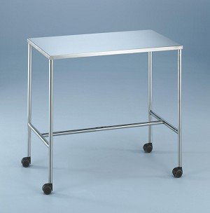 "Blickman H-Brace Instrument Table - Mri 20"" X 36"" X 32"", Each - Model 197842100"