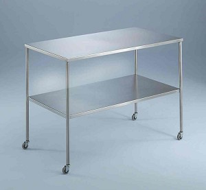 "Blickman Instrument Tables with Shelf - w/ Shelf, 60""X24""X34"", Each - Model 117836000"