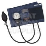 PRECISION Latex-Free Aneroid Sphygmomanometer, Adult, Blue - Model 09-141-011, Each