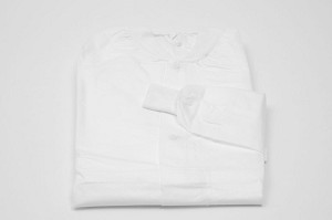 Broadline Medical Systems Fluid Resistant Lab Coat - Staff, 2Xl, White, Box of 50 - Model B55-4213