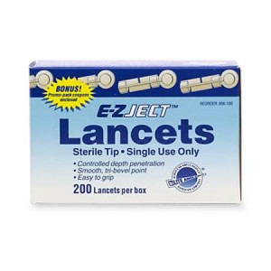 Can Am Care E-Z Ject Lancet Device, Box of 200 - Model 006-100