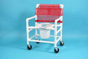 Care Product Deluxe Shower Chair, Removable Back 21 Inch, White, Each - Model 520XW