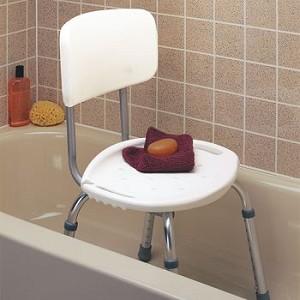 Carex Adjustable Bath & Shower Seat w/ Back - Item #559146