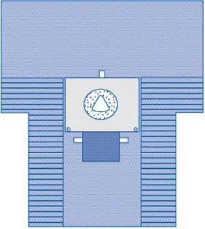 Cesarean Section Surgical Drape with Pouch and Fenestration - C-Section, w/  Fen And Pouch, 7X7