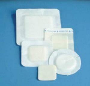 DeRoyal Polyderm Foam Wound Dressing, Polyurethane Foam 4 Inch Diameter,  Box of 10 - Model 46-908