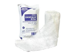 Dukal Bandage Roll Cotton Gauze 6-Ply 4.5 Inch X 4.1 Yard, White, Each - Model 645