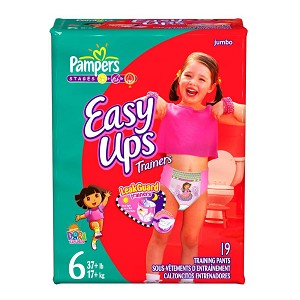 easy up pampers diaper diaper easy ups girls size 6 box of 76