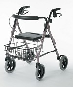 "Medline Guardian Deluxe Rollators with 8"" Wheel - Aluminum, Blue, Each - Model G07887B"