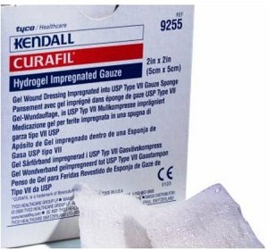 Kendall Curafil Impregnated Gauze, 8 L X 4 W Inch, Box of 25 - Model 9257