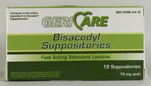 McKesson Laxative, Suppository 100 Suppositories - Model 57896044401