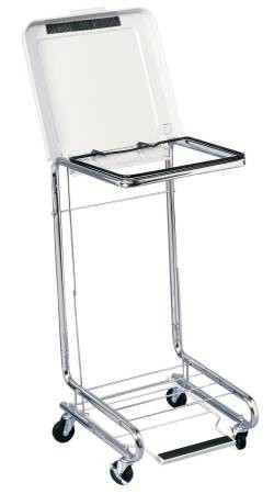 entrust Performance Hamper Stand General Purpose Square Opening Foot Pedal Self-Closing, Each