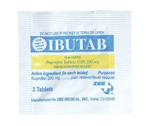 McKesson Ibutab Pain Reliever, Tablet 2 per Packet 200 mg, Box of 6000 - Model 1757