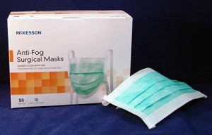 One Size Surgical Pleated Green Of Mckesson 50 Ties Most Fits Box Mask