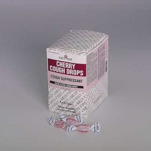 Medique Medi-First Cherry Cough Drops, Box of 125