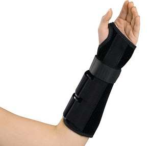 "Medline Wrist and Forearm Splint- Dlx, 10"", Lt Md, Each - Model ORT18110LM"