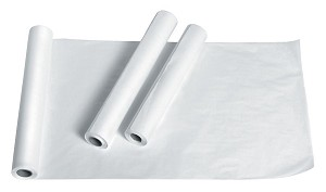 "Medline Deluxe Crepe Exam Table Paper - Dlx, 21""X125', Box of 12 - Model NON24325"