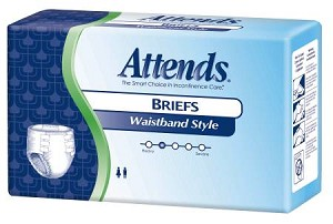 Attends Briefs 10 Brief, 45-58 Inch Large Blue Ultra Absorbency, Pkg of 72 - Model BRW103072