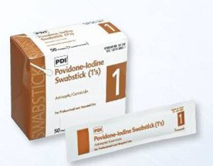 Professional Disposables PDI Swabstick, Cotton Tip Wood Shaft 4 Inch, Box of 50 - Model S41350