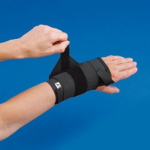 Rolyan Elastic Wrist Support w/ Tension Strap, Right, X-Large - Model A914RXL