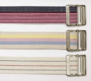Skil-Care Gait Belt 60 Inch Pastel Stripes Cotton, Each - Model 252070