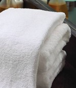 Standard Textile Bath Towel 20 W X 40 L Inch Cotton, 100% White Reusable, Pkg of 12 - Model 40525420