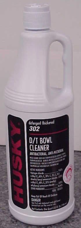 How strong is the hydrochloric acid in toilet bowl cleaners?
