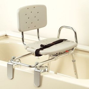 Eagle Health Tub Mount Sliding Transfer Bench W Swivel Seat Molded Seat Item 557414