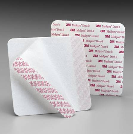 3M Medipore Dressing Cover, Non Woven Polyester 5 7/8 X 5 7/8 Inch, Box of 75 - Model 2956