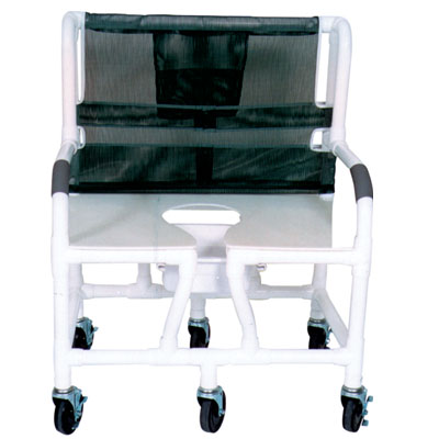 Bariatric Shower/Commode Chair With Footrest and Padded Seat - Model 559348