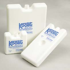 Cold Chain Koolit Refrigerants - 600 Series Gel Packs, 0 degrees C (32 degrees F), Model 616A
