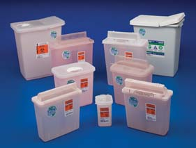 Covidien Renewables Sharps Disposal Containers - Chemosafety Containers, Model 8985MW, Case of 10