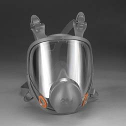 3M 6000 Series Full Facepiece Respirator with DIN Port Adapter, Small, Model 6700DIN, Each