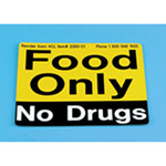 HCLS Food Only No Drugs Refrigerator Magnet, Each