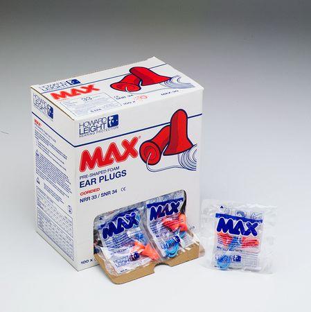 Howard Leight Max Foam Ear Plugs - Uncorded, Regular - Model MAX-1, Pair of 200
